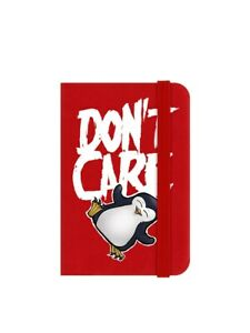Psycho Penguin Notebook Don't Care Mini Red 6.5 x 10cm