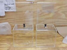 Displays2go Acrylic Collection Boxes with Removable 9 x 11 Inches Header for Tab