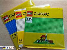 Lego® 3x Grundplatte 32x32 Baseplate city je 1x blau,weiß,grün 10700 10714 11010