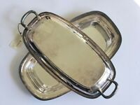 Hecworth Art Deco Silver Plated Tureen, A1 EPNS Lidded Serving Platter, 1930's