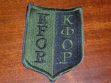 PATCH Insigne militaire GERMAN KFOR ARMEE force pour le KOSOVO OTAN nato army