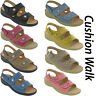 Cushion-Walk Halterback Summer Sandals Twin Strap Open Toe Comfort Ladies UK 3-8