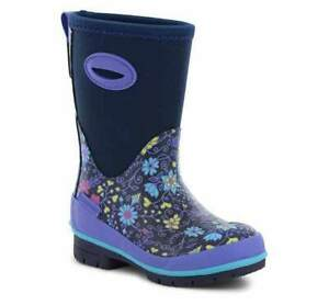 Western Chief Kids Floral Fun Insulated Neoprene Snow Boot Waterproof Pull On