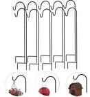 10X Shepherd Crook Hook Lanterns Bird Feeder Flower Pot Plant Basket Lamp Hanger