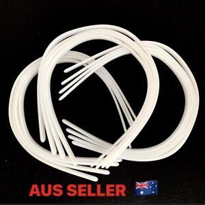 10 - 12mm White Plastic DIY Headband x 12pc