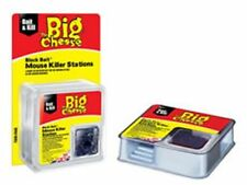 THE BIG CHEESE ALL-WEATHER BLOCK BAIT II MOUSE KILLER STATI - TWIN PACK - VIC099