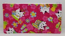 Chinese Lucky Cat Fabric Handmade Pencil Case Make up sac de rangement pochette