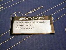 Original Mercedes Motor-Aufkleber AMG M104 E34 im 300E-24 3.4 AMG W124