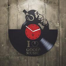 Vinyl Wall Clock Best Gift Musical Dj Unique Design Inspire Home Pop Art Decor