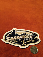 Saskatoon Blades Stitched Shoulder WHL Hockey Crest Patch Logo 3 by 5.2 inches