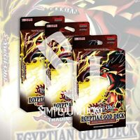 EGYPTIAN GOD DECK: SLIFER THE SKY DRAGON x3 | 120 CARDS YuGiOh Presale 6/9/21