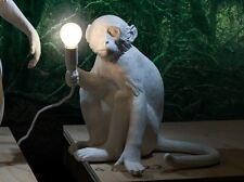 Seletti Monkey Lamp a sedere lampada scimmia seduta resina bianca