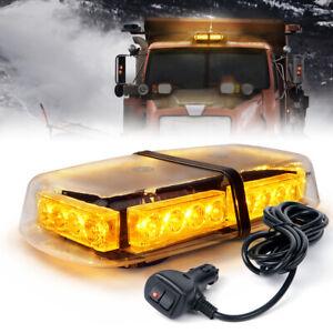Xprite Vehicle Rooftop 24 LED Emergency Warning Mini Strobe Light Bar - Yellow