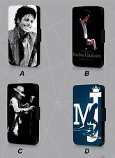 MICHAEL JACKSON KING of POP MUSIC FAUX LEATHER FLIP PHONE CASE COVER