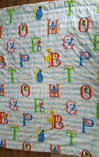 Vintage Sesame Street Alphabet Comforter Blanket Big Bird, Bert, Cookie Monster