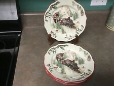 Better Homes and Gardens Heritage Collection Train 4 Salad Plates