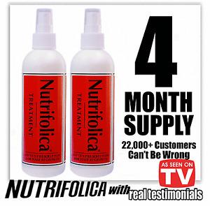 CURE HAIR LOSS ALOPECIA THINNING BALDNESS 2QTY NUTRIFOLICA HAIR GROWTH TREATMENT