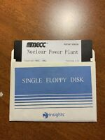 "Mecc Nuclear Power Plant Simulator Adrian Vance 1985 Apple II 5.25 5.25"" Disk"