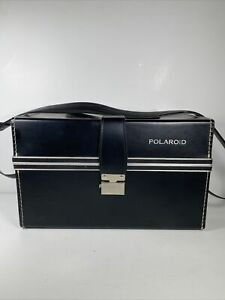 Vintage POLAROID Camera Case ONLY Retro Black Red Buckle Carry Photography
