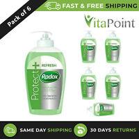 Radox Protect + Refresh Anti-Bacterial Handwash 250ml / Pack Of 6