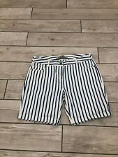 Next Everyday Nautical Blue White Stripe Shorts Size 10
