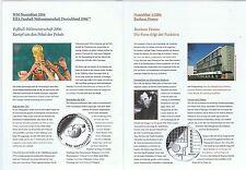 Numisblatt 2004 Beschreibung  Bl.1 Bauhaus Dessau und FIFA WM Fußbal in orig.Fol