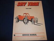 SKY TRAK 3606 TELEHANDLER FORKLIFT SERVICE SHOP REPAIR MANUAL BOOK