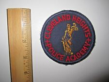 CLEVELAND HEIGHTS POLICE ACADEMY EMBROIDERED PATCH MINT UNUSED