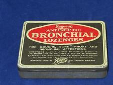 VINTAGE TIN BOOTS Regesan Antiseptic Bronchial Lozenges 1950s (Empty)