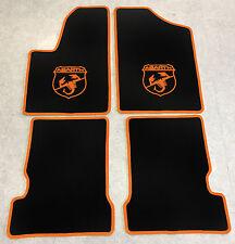 Autoteppich Fußmatten für Fiat Seicento u. Abarth 1998-10 schwarz orange Velours