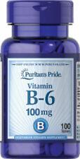Puritan's Pride Vitamin B-6 (Pyridoxine Hydrochloride) 100 mg 100 Tablets