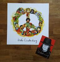 ⭐⭐ UDO LINDENBERG ⭐⭐ Kunstdruck + Orig. Autogramm ⭐⭐ Wir ziehen in den Frieden ⭐