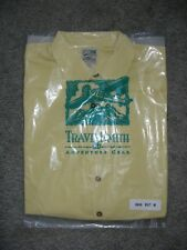 Mens TravelSmith Adventure Gear Short Sleeve Shirt 100% SILK MEDIUM Yellow