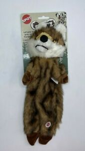 Furzz 13 inch Plush Dog Toy With Squeaker Realistic Fur, Stuffing Free Body Fox