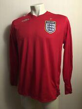 England Football 2006-2008 Away Soccer Jersey ROONEY ERA UMBRO long sleeve  sz L