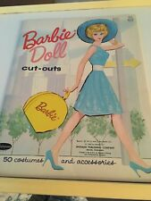 Vintage 1962 Whitman BARBIE DOLL Paper Dolls Cut-Outs ~ UNCUT No. 1963