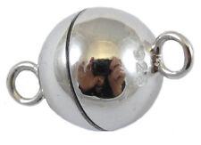 925er Silber - Runder Magnetverschluß. Mangnetschließe.  Platiniert. 6mm.