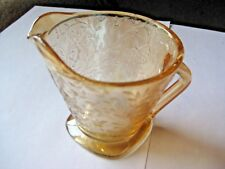 Vintage Jeannette Glass Creamer Floragold Louisa 1950's Free Shipping