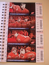 2012 DETROIT RED WINGS PLAYOFF TICKETS (4)  ROUND 2 DATSYUK  ++ EXC L@@K!