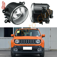 For Jeep Renegade 2015-2018 k Fog Light Bumper Driving Lamp Clear Lens Pair Kit