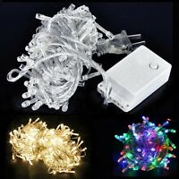 50/80/100/120/200/300/400 LED String Lights Clear Wires Party Wedding Xmas Decor