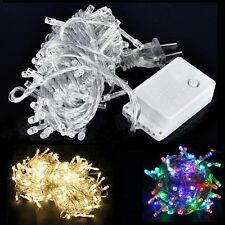 50/80/100/120/200/300/400 LED String Fairy Lights Clear Wires Party Wedding Xmas