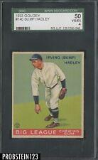 1933 Goudey #140 Bump Hadley Browns SGC 50 VG-EX 4