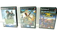 Lot of 3 Playstation 2 PS2 Medal of Honor Rising Sun, Frontline, SOCOM Tested