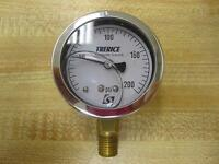 "Trerice 0-200 PSI Gauge Liquid Filled 1/4"" Thread Size Bottom Mount"
