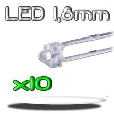352/10# LED blanche 1,8mm 10pcs --- 3000mcd