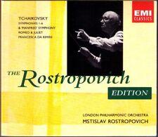 ROSTROPOVICH: Tchaïkovski Symphony 1 2 3 4 5 6 Manfred EMI 5cd Tchaïkovsky