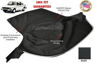 VW Volkswagen Rabbit Cabriolet GOLF 1980-1994 Convertible Soft Top Black Vinyl