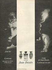 Publicité Advertising 1965  Parfum Gymkana & Celui de JEAN DESSES