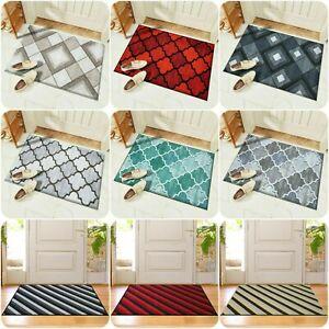 New Modern Non-Slip Indoor Door Mat Washable Large Rugs Hallway Runner Floor Mat
